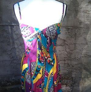 Vintage Amandine art deco halter dress
